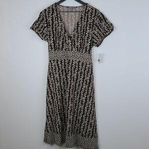 Apt. 9 nwt petite xl brown cream printed dress XLP
